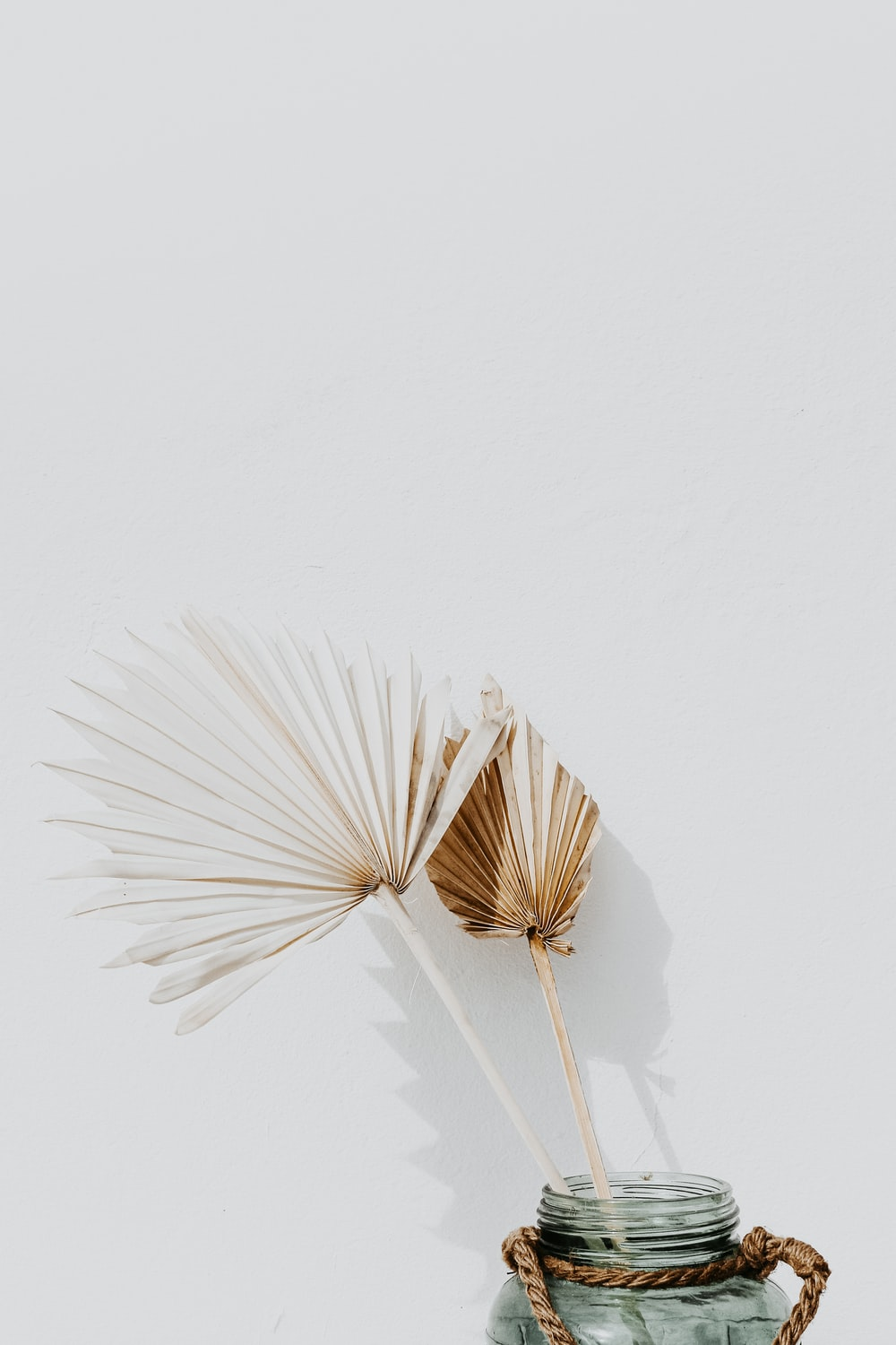 white and brown hand fan