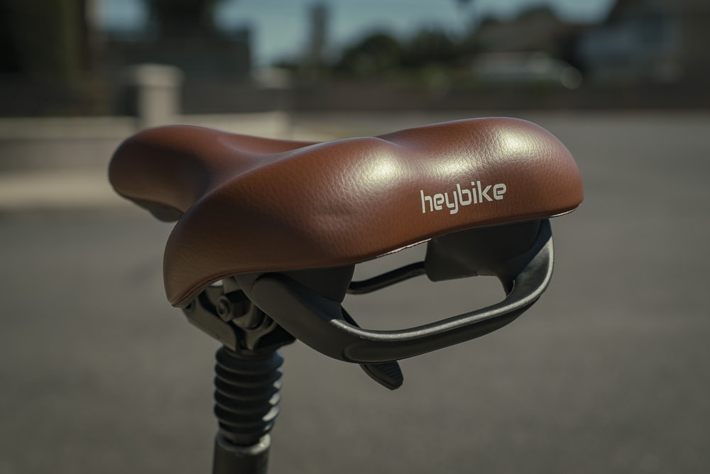 brown and black bicycle handle bar
