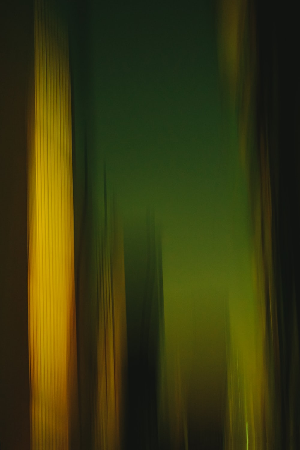 green and yellow light in green