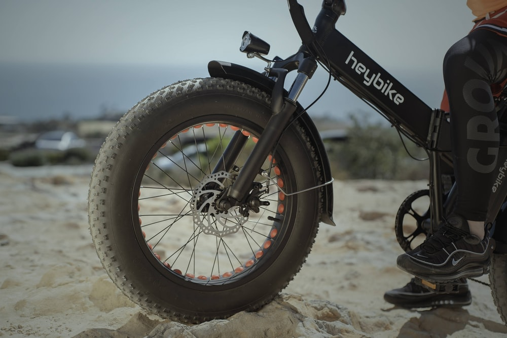 black and red mountain bike