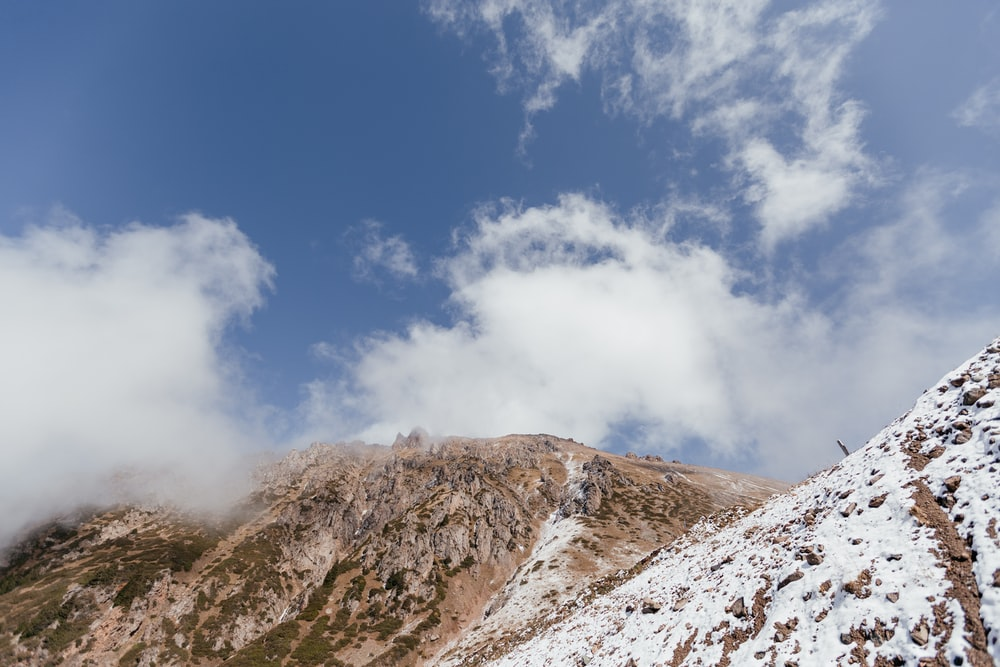 brown and white mountain under blue sky during daytime