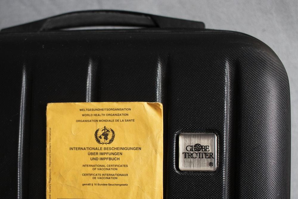 black and brown plastic pack