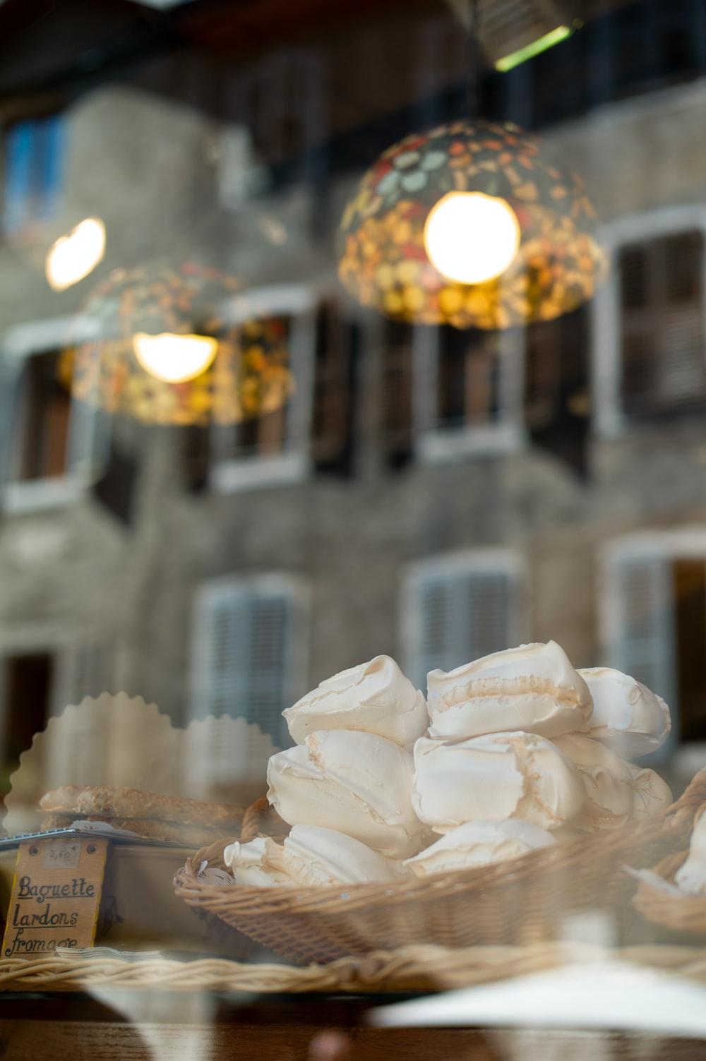 white paper lantern on table