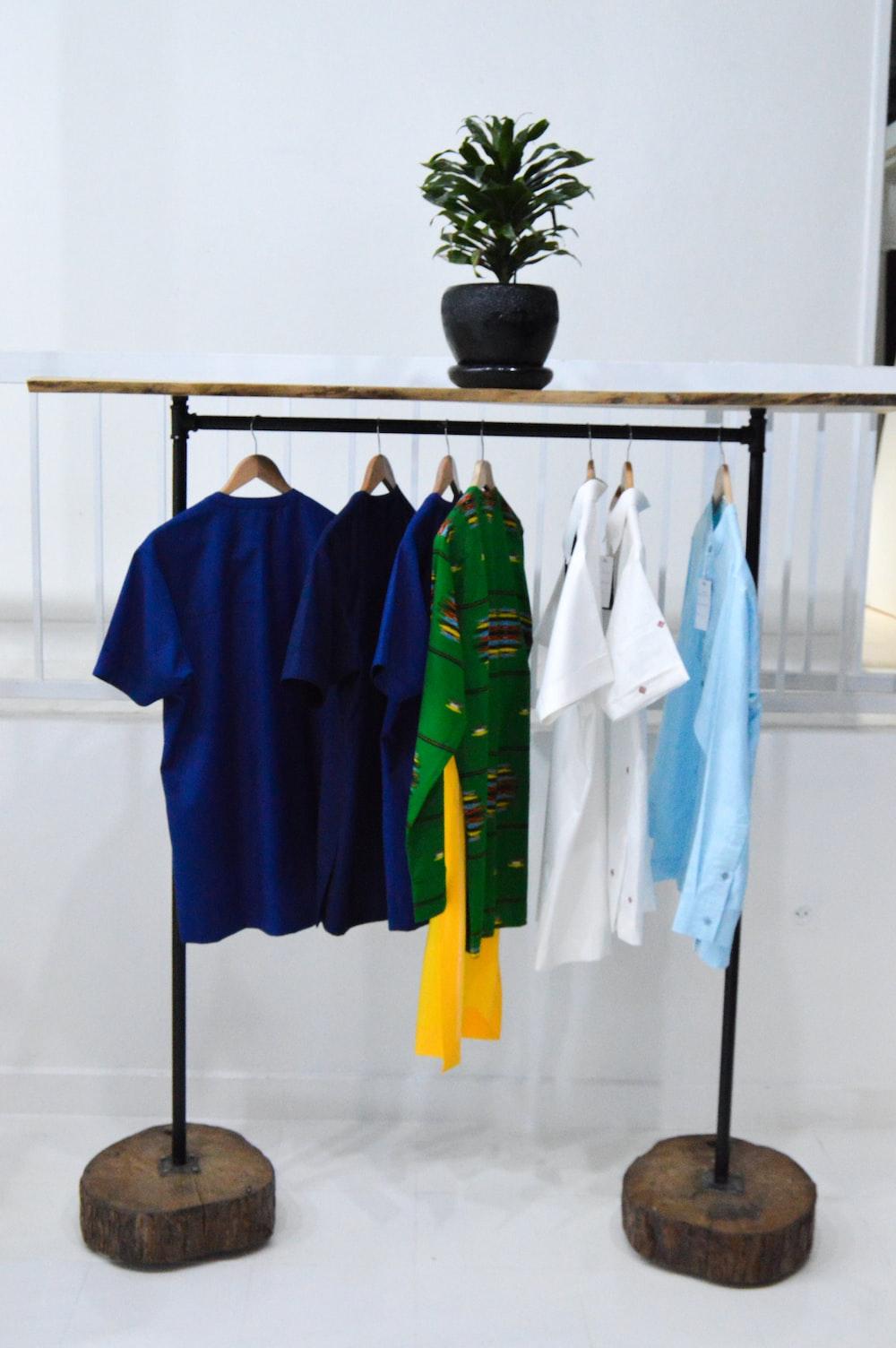 blue and white polo shirt