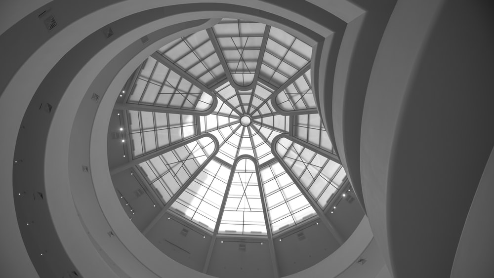 low angle photography of dome building