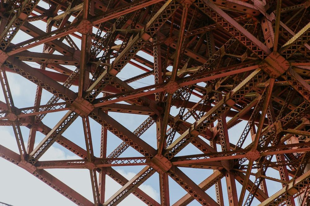 red metal tower during daytime