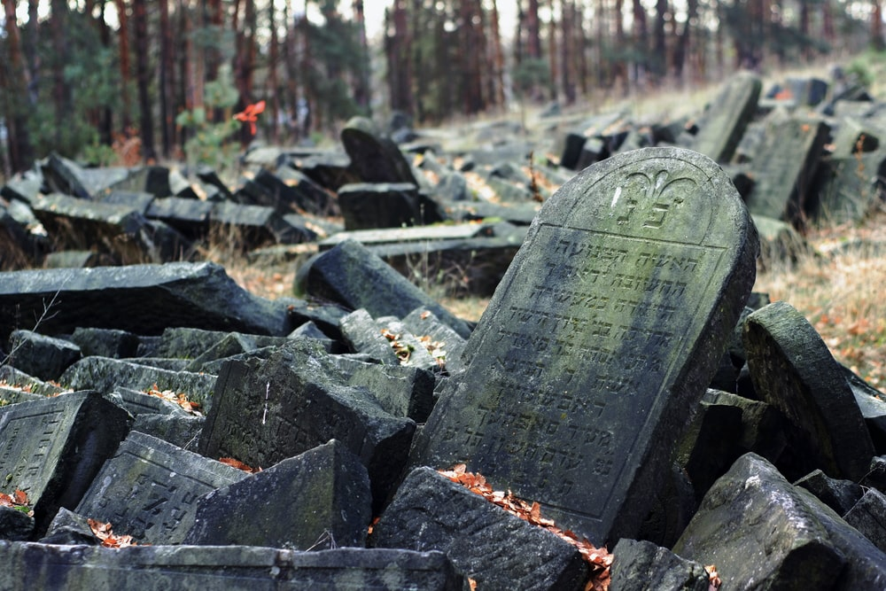 black concrete blocks on the ground