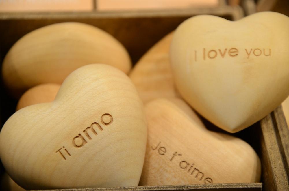 white wooden heart shape decor