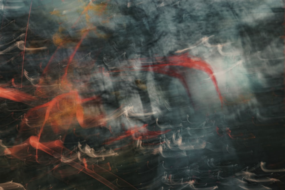 black red and white abstract painting