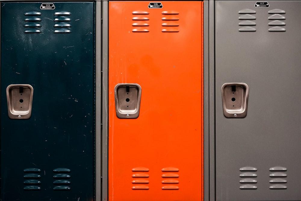 orange and black electronic device