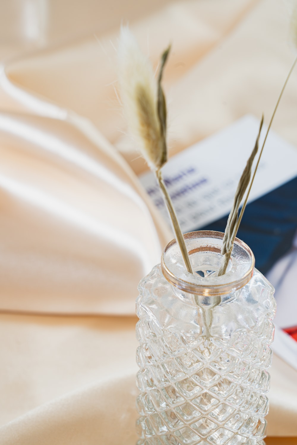 clear glass jar with silver spoon