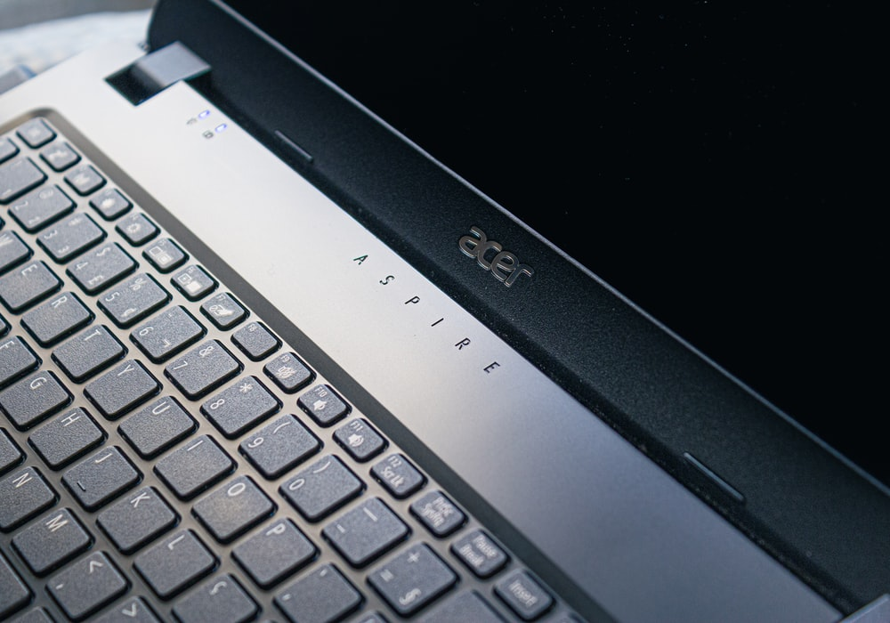 black and gray acer laptop