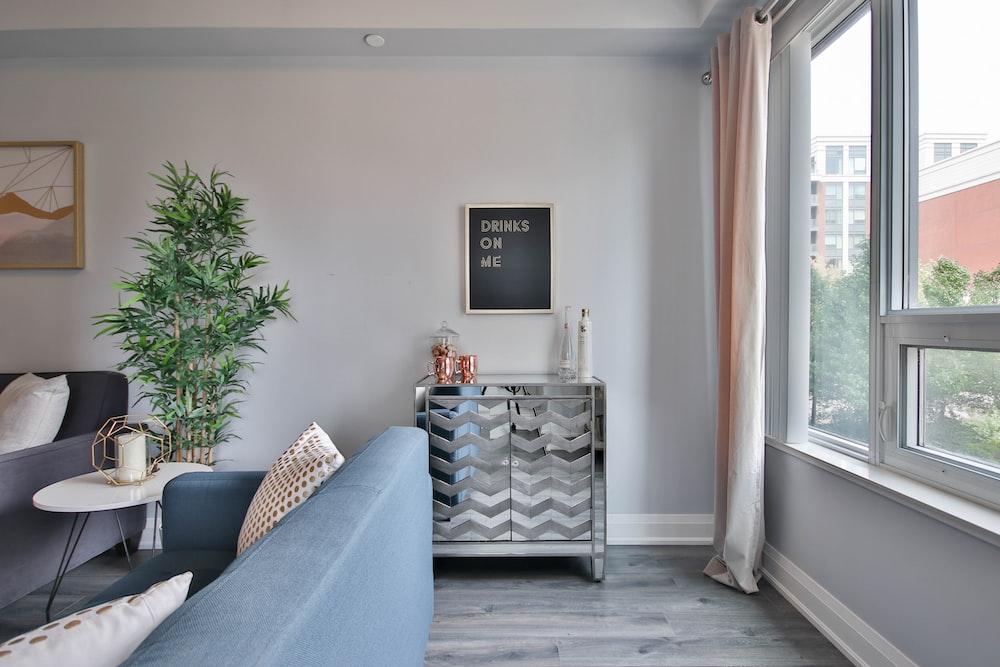 gray and white sofa set