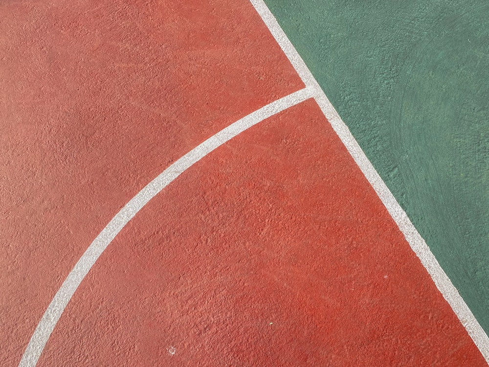 green and white track field