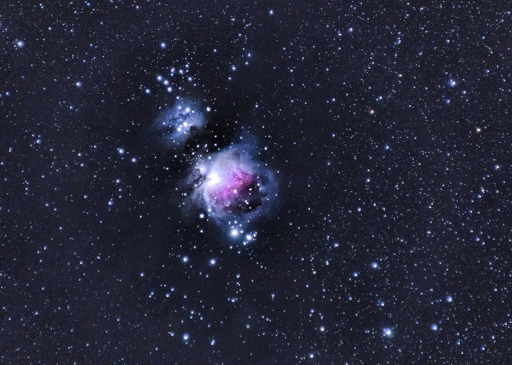 purple and white galaxy illustration