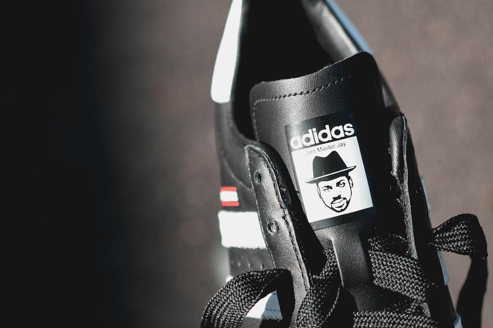 black and white adidas shoe