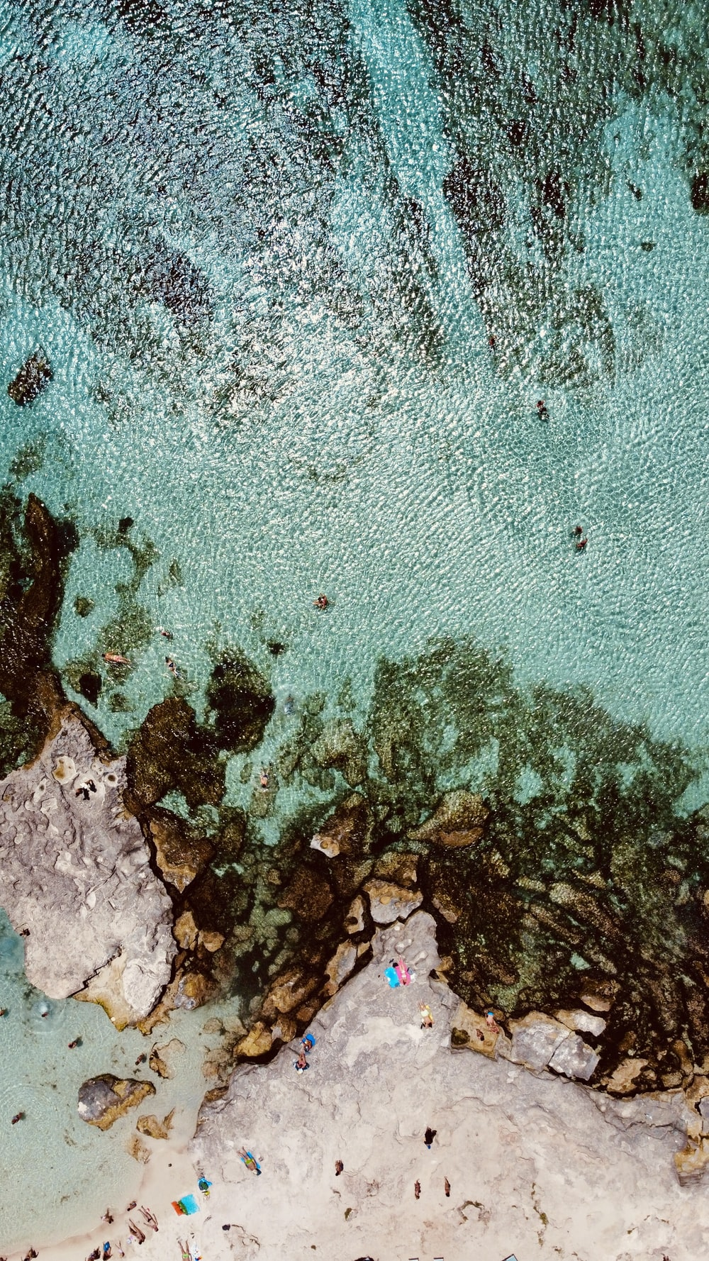 aerial view of body of water