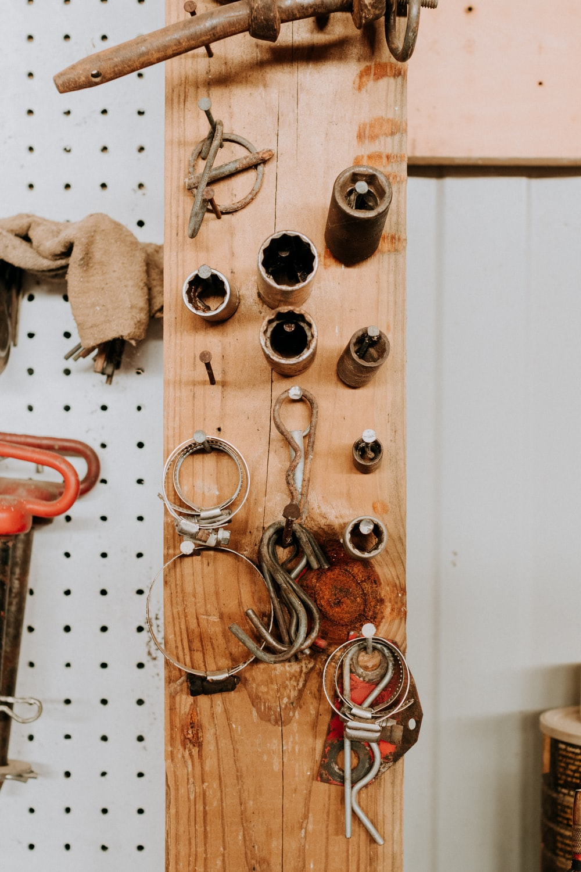 brown wooden door with door lever