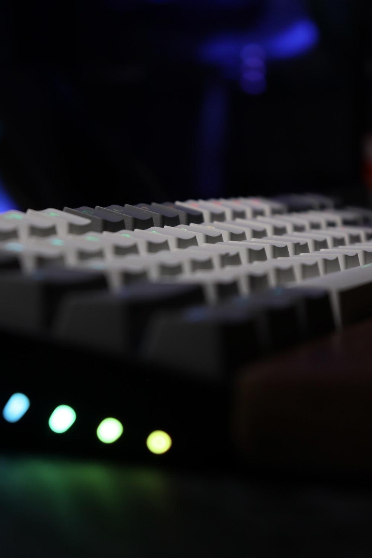 white and black computer keyboard