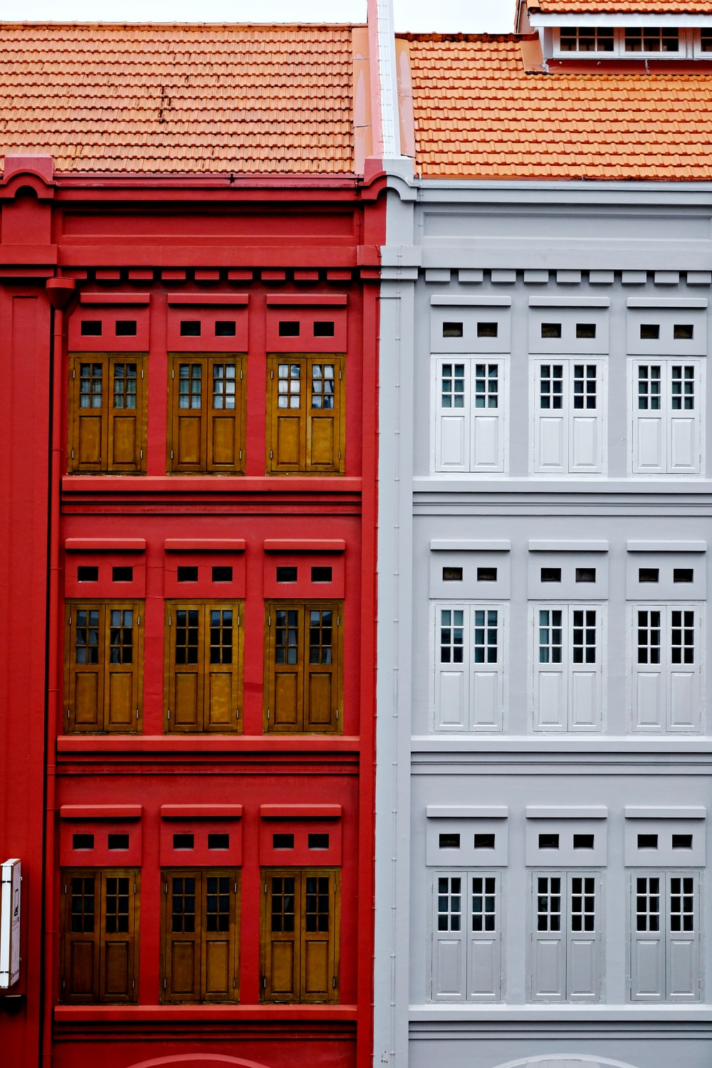 red and white concrete building