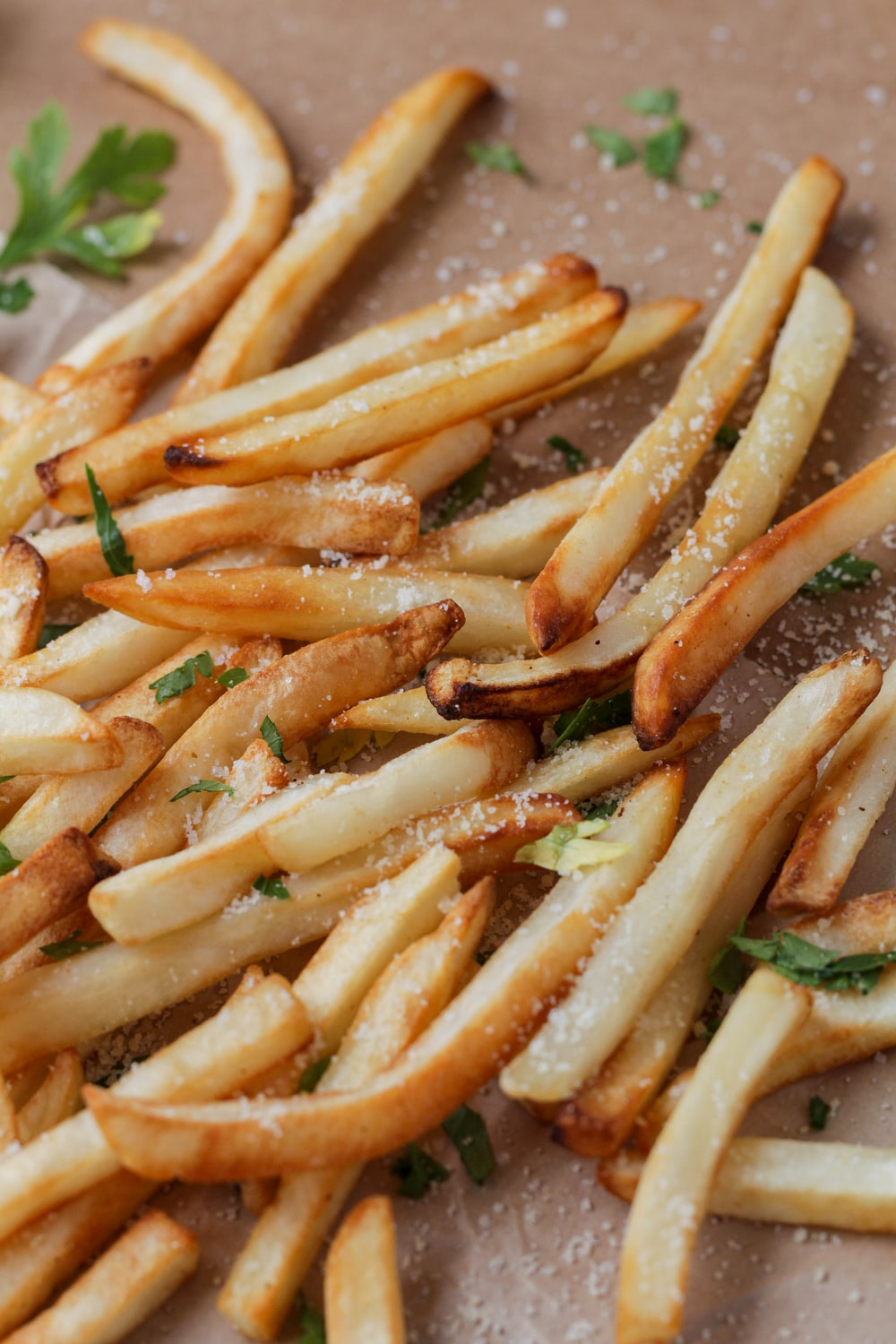 brown fries on white ceramic plate