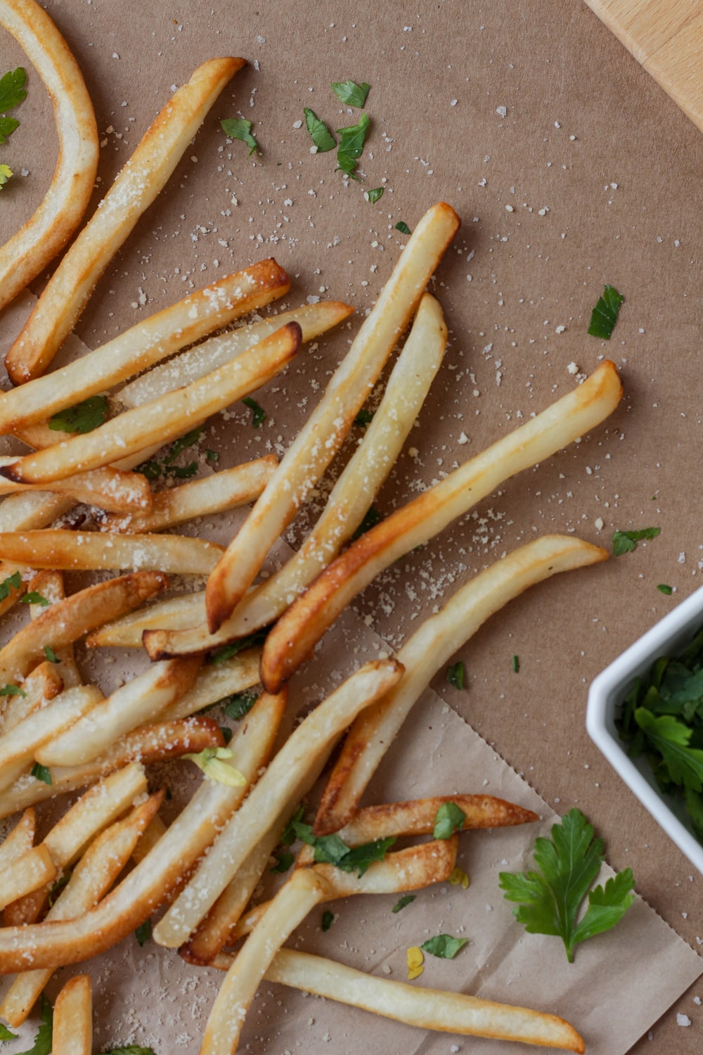 fried fries on gray tray