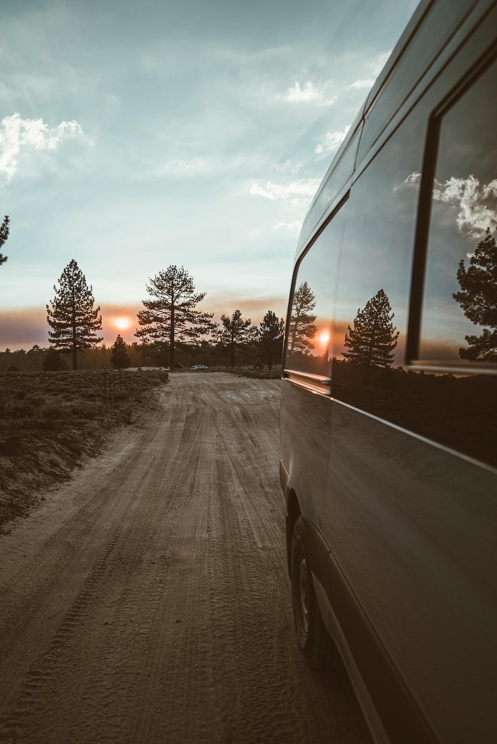 black asphalt road during sunset