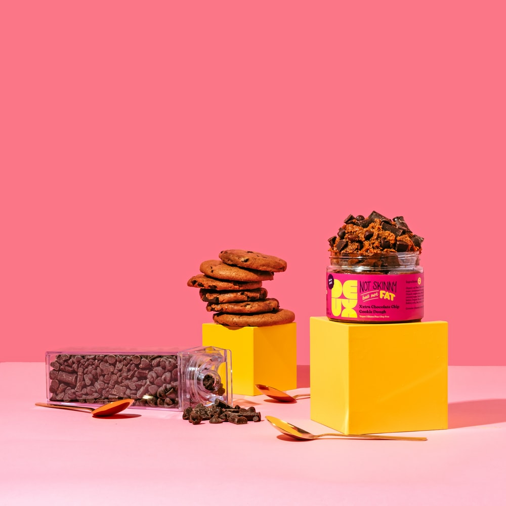 brown and yellow box with cookies