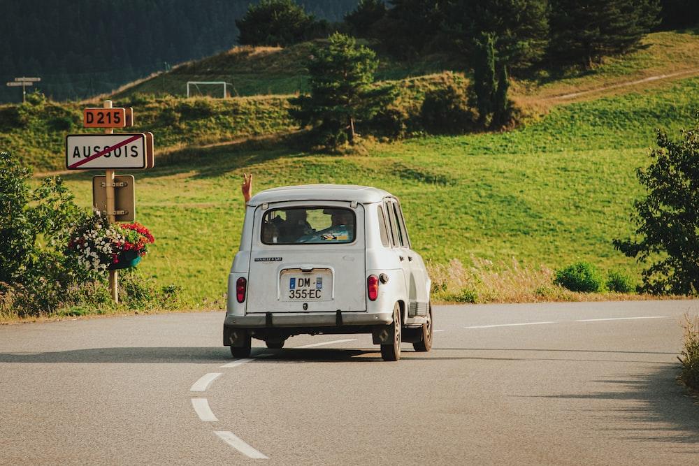 white volkswagen t-2 on road during daytime
