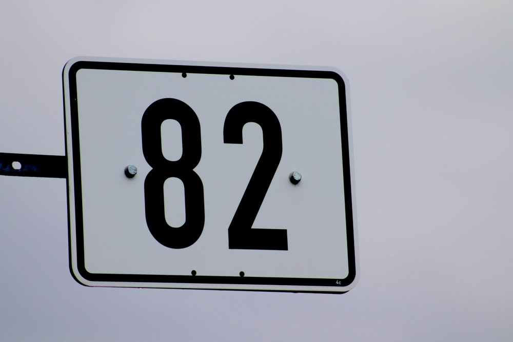 white and black 10 sign