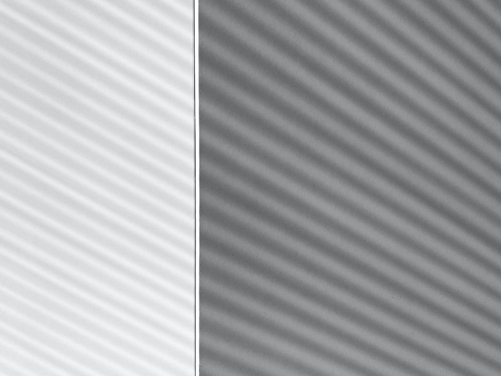 white and gray striped textile