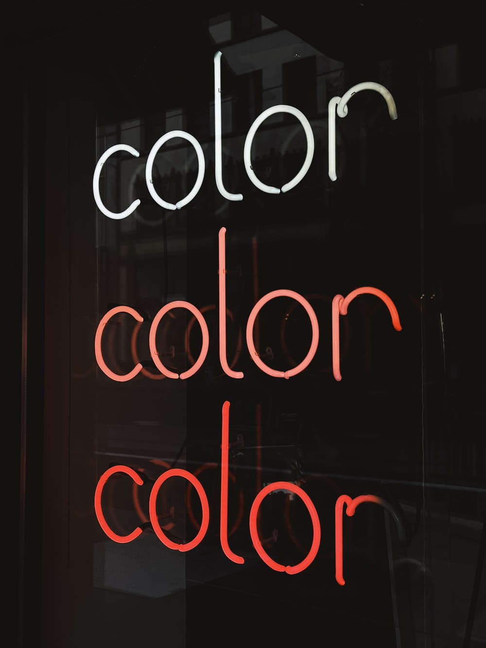 black and white love me neon light signage