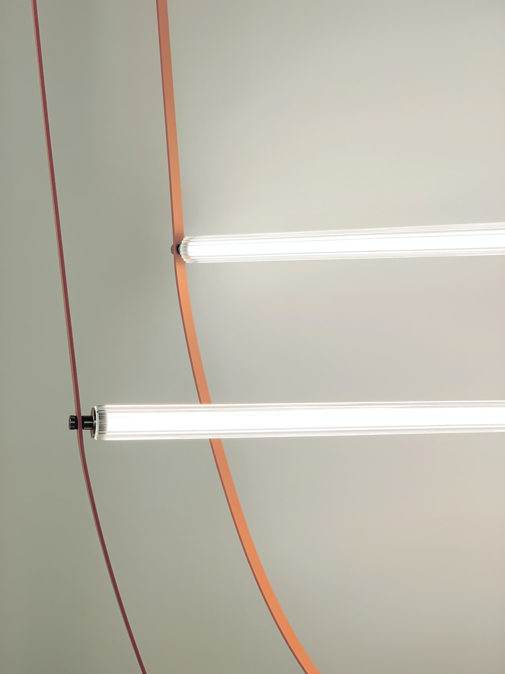 white and red metal rod