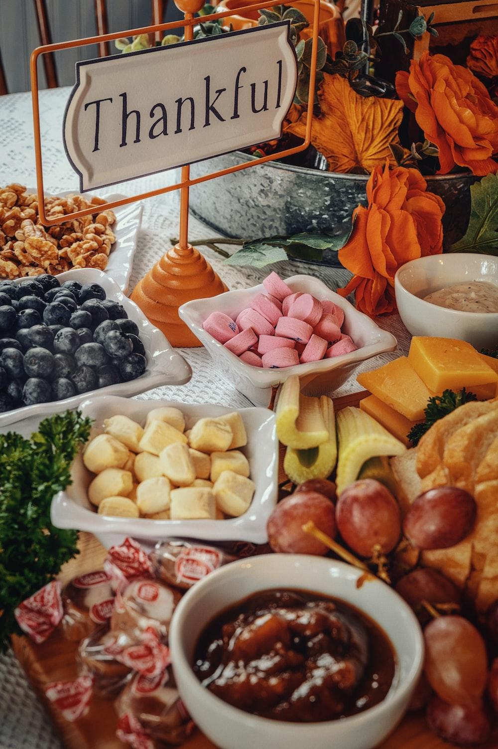 sliced fruits on white ceramic bowls