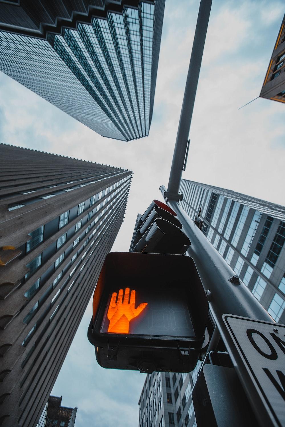 black and orange traffic light