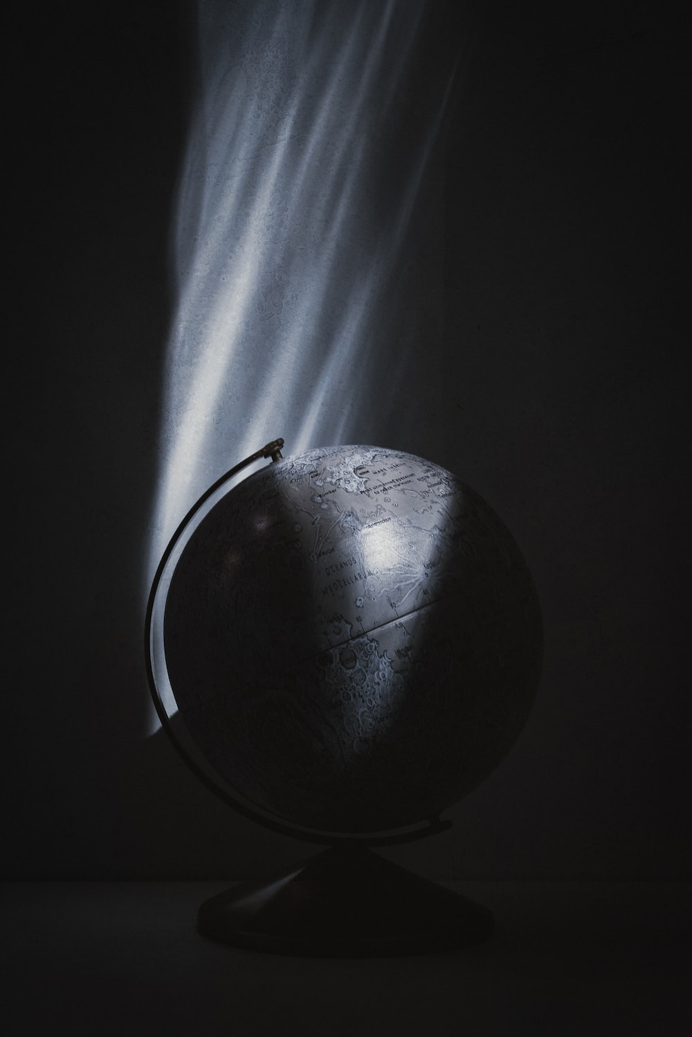 black ball with white background