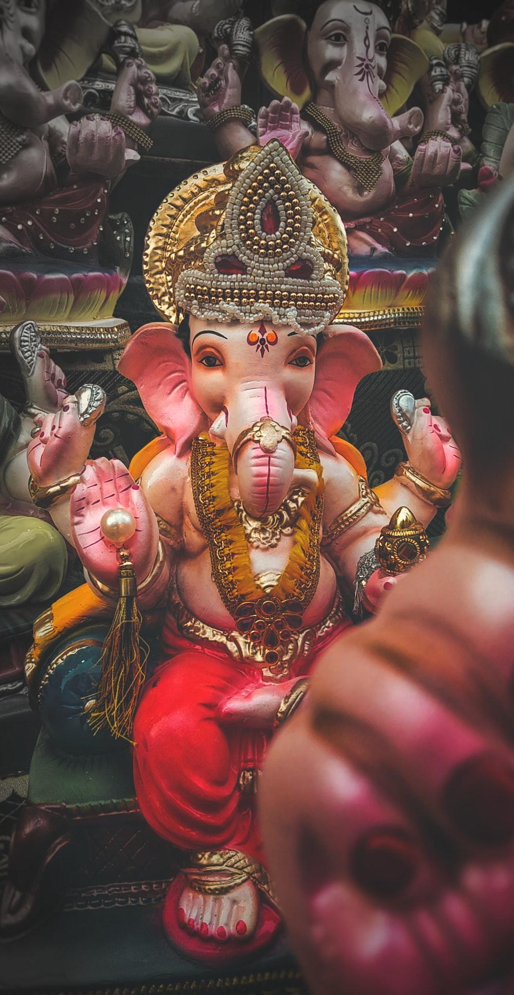 hindu deity figurine on display