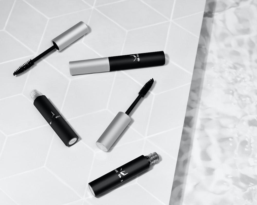 black and white pen on white textile