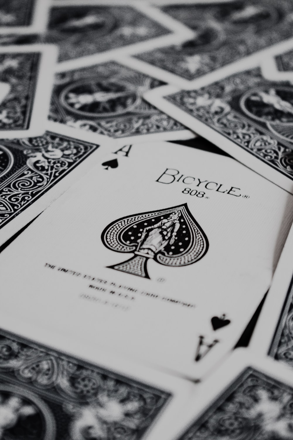 white and black playing cards