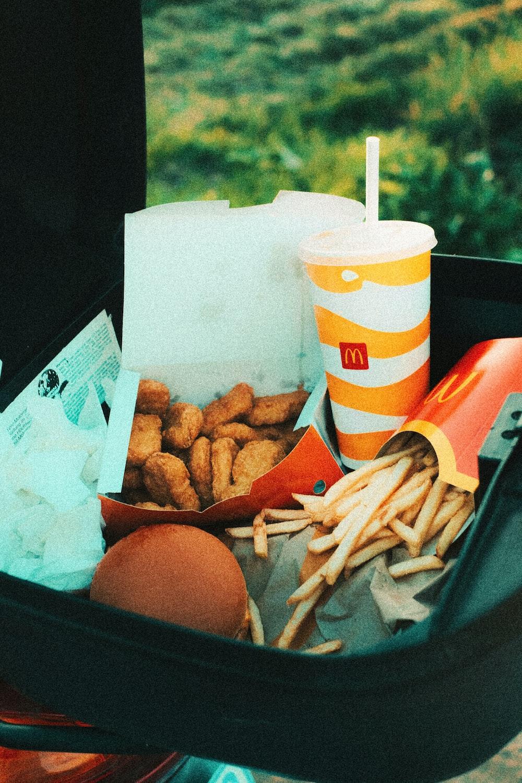 mcdonalds fries and burger