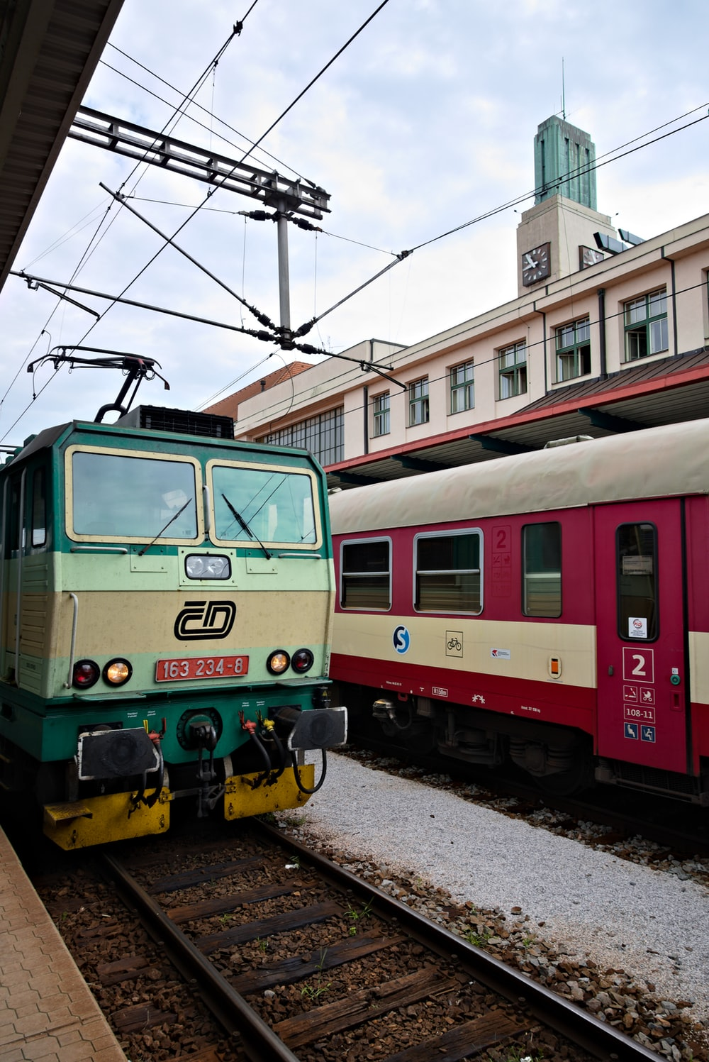 red green and black train
