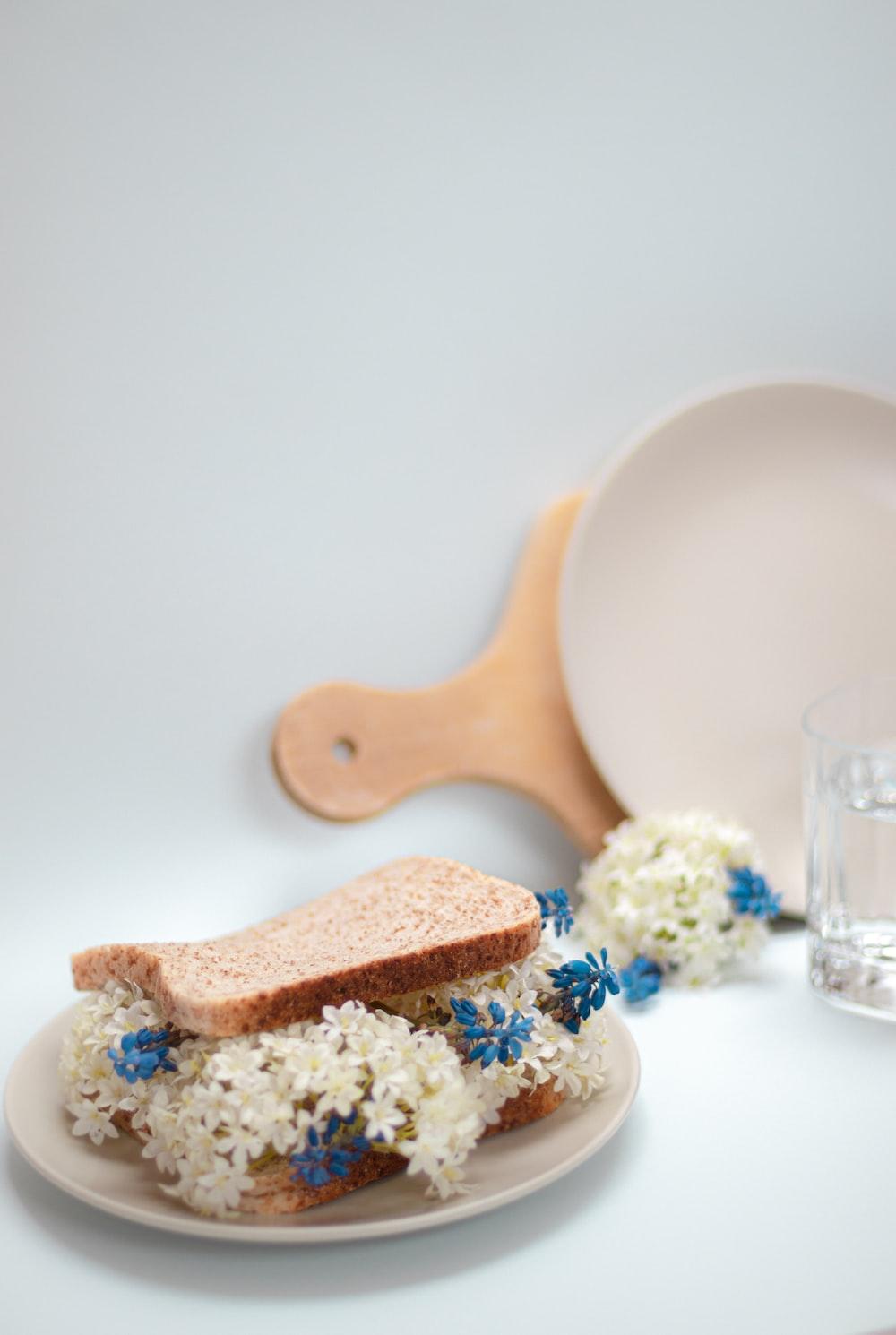 blue and brown ceramic egg figurine