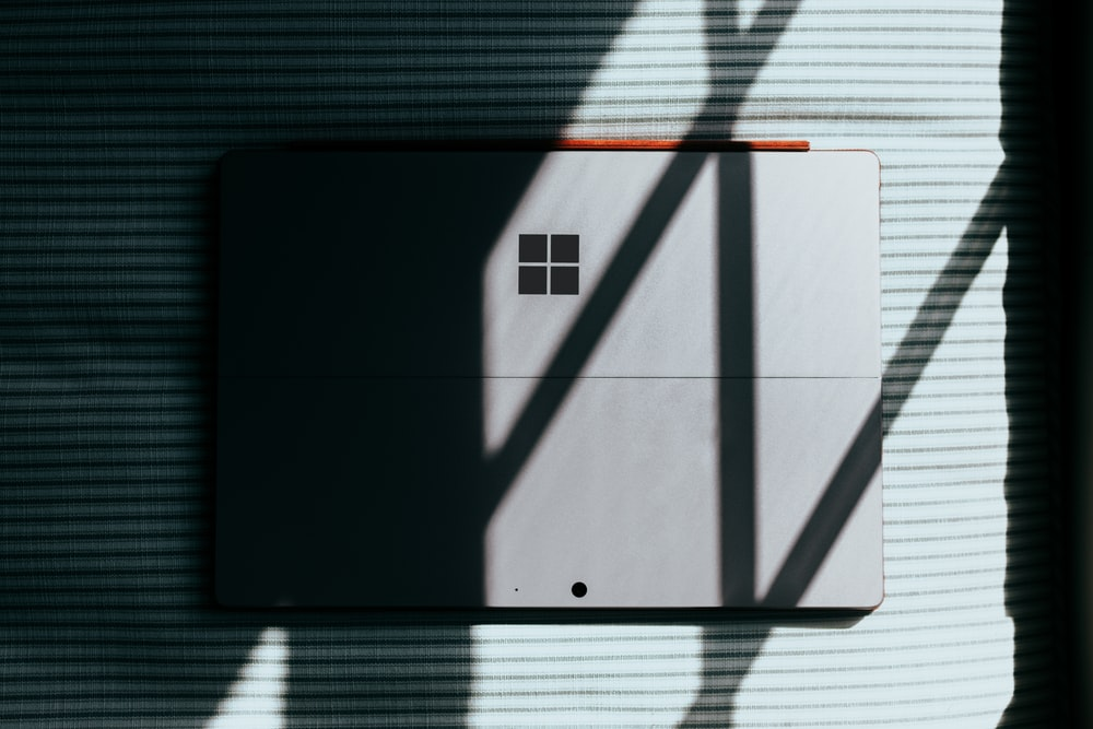 Surface laptop with shadows