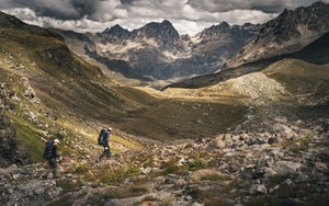 Hiking in the Austrian alps.