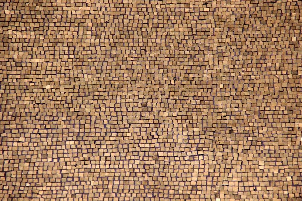 brown brick block wallpaper