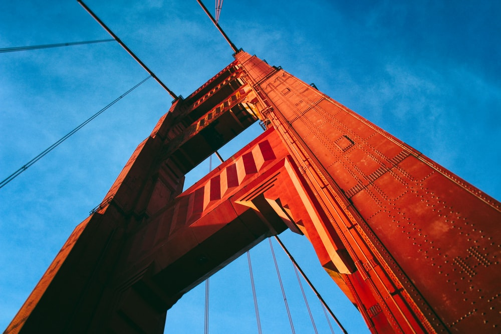 low angle photography of Golden Gate Bridge, San Francisco