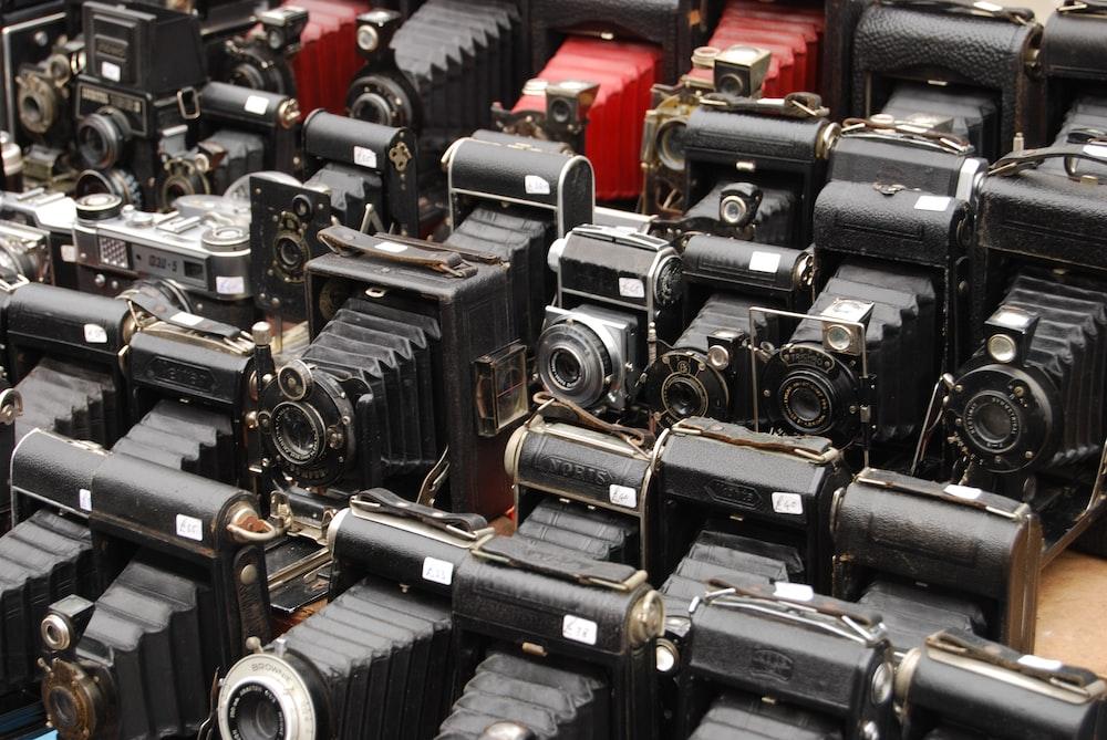 vintage black cameras