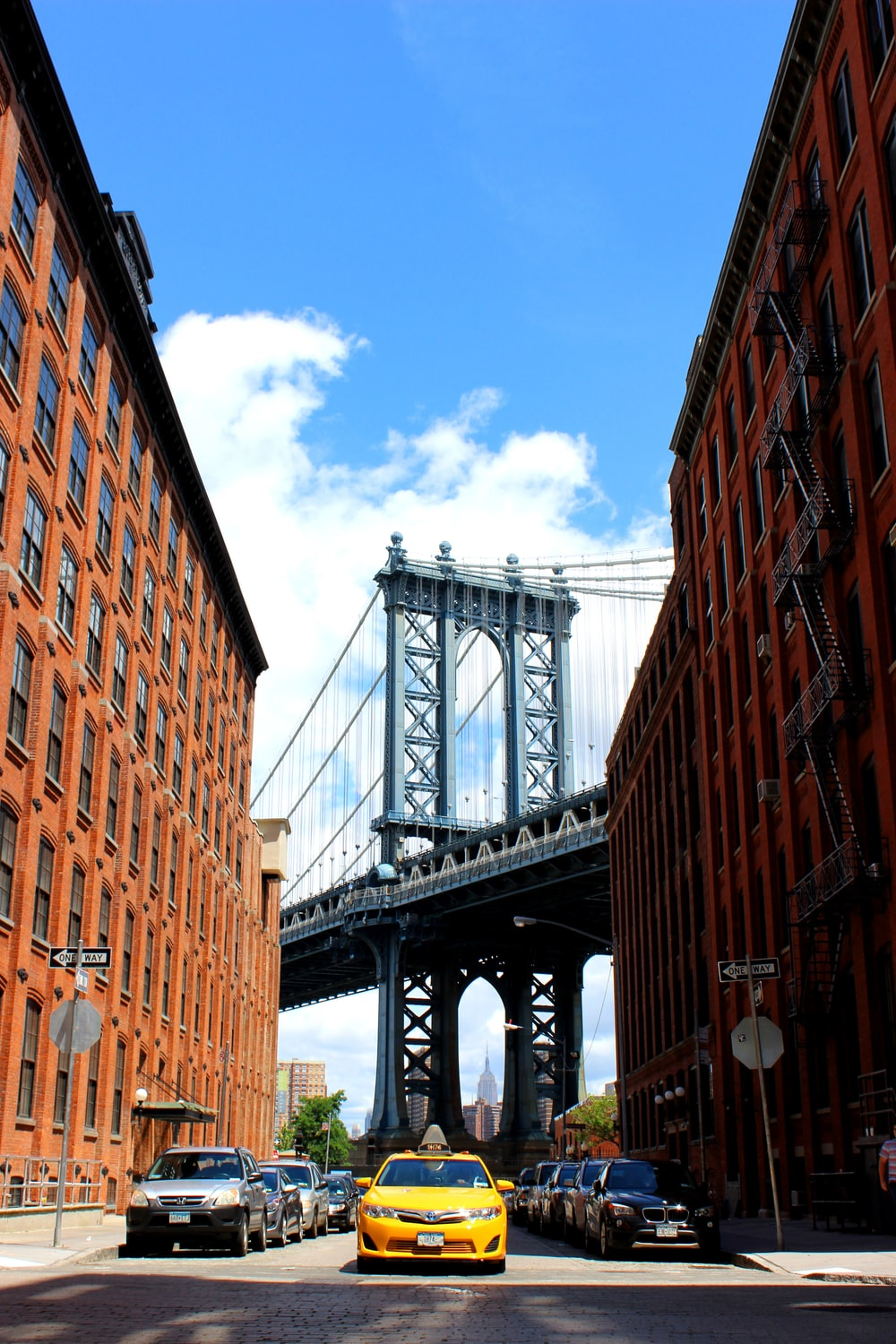 low angle photography of Manhattan Bridge, New York