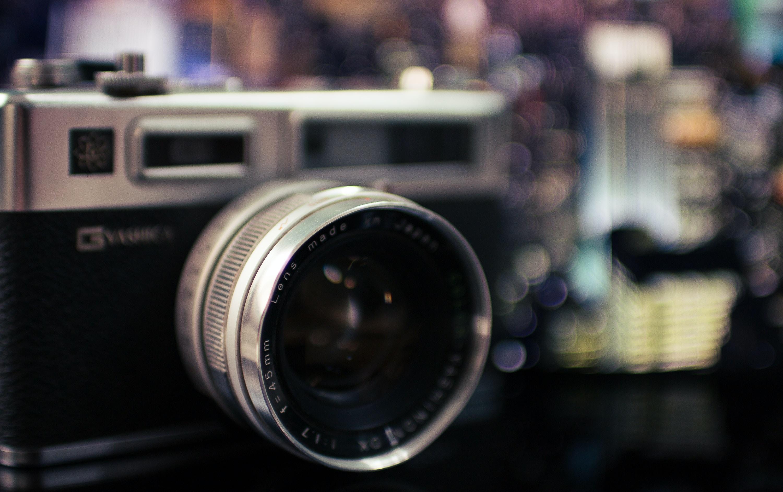 black and gray camera bokeh photography