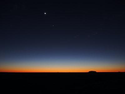 Moon Stars Twilight Uluru